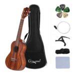 New              Camwood CU-23T 23 Inch Teakwood Acoustic Concert Ukulele with Gig Bag