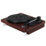 New              MDY-1305-1 33 45 78 RPM Record Player Antique Gramophone Turntable Disc Vinyl Audio RCA R/L 3.5mm