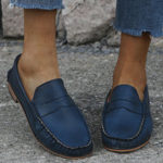 New              Women Large Size Comfy Soild Non Slip Casual Flat