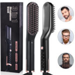 New              3 in 1 Men & Women Beard Hair Straightening Comb Electric Ceramic Ionic Fast Heating Brush Portable Travel Hair Styling Comb