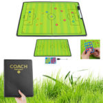 New              44x32cm Foldable Magnetic Coaching Training Board Tactical Soccer Football Teaching Kit