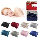 New              2pcs Silky Soft Pillow Case Bed Cushion Cover Pillowcase Luxury Room Home Gift