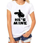 New              Women Causal O-neck Cartoon Printing Couples T-Shirts
