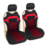 New              2PCS Universal T Shirt Design Front Car Seat Covers Protector Polyester Breathable 27*15*4cm
