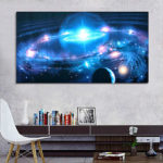 New              43*24 Inch Andromeda Galaxy Stars Universe Space Silk Poster Art Wall Home Decor Paints