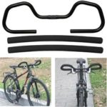 New              1Pcs 25.4mm Aluminum Butterfly Trekking Bicycle Handlebar + Sponge Cover For Mountain Bike MTB Rode Bicycle