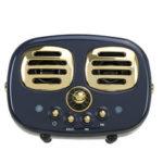 New              Mini Wireless Retro bluetooth Speaker 3D Stereo TF USB FM AUX Speaker Subwoofer Fashion Creative Gift
