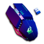 New              Free Wolf X11 Wireless Gaming Mouse 2400dpi Rechargeable 7 color Breathing Backlight Gamer Mice for Computer Laptop PC