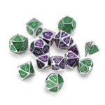New              7PCS Metal Polyhedral Dices Set For Dungeons & Dragons Dice Desktop RPG Game