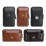 New              Leather Zipper Belt Pouch Bag Vintage Phone Tactical Waist Bag Storage Holder Pack