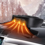 New              2-In-1 24V Car Auto Portable Electric Heater Heating Cooling Fan Defroster Demister 360 Degree Rotation Universal