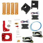New              Aluminum Heating Block 0.4mm Extruder Nozzle Upgraded Kit with TL-smother+ NEMA 17 Stepper Dampers For Creality Ender-3 3D Printer