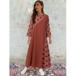 New              Plus Size Spring Polka Dot Patchwork Cotton Maxi Dress