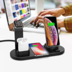 New              DCAE 4in1 10W/7.5W/5W 3A Qi Wireless Charger Dock Stand for Samsung S10+ For iPhone 11 X XS XR 8 for Apple Watch 5 4 3 2 Airpods Xiaomi HUAWEI LG