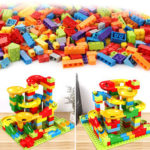 New              200Pcs/Set Maze Ball Track Building Blocks ABS Funnel Slide Assemble Bricks Blocks Toys