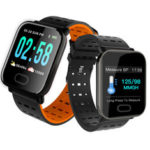 New              Bakeey A6 Sleep HR Blood Pressure Oxygen Monitor Camera Control Smart Watch