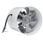 New              40W 6Inch Inline Duct Fan Booster 150mm Exhaust Blower Air Cooling Vent Ventilation Fan 1080m³/ h