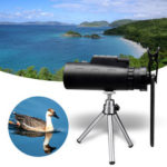 New              MOGE 50X HD Monocular Night Vision Telescope + Clip + Tripod For Mobile Phone