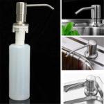 New              350ML Kitchen Bathroom Sink Liquid Soap Dispenser Brushed Nickel Head