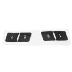 New              Matte Black Car Door Lock Switch Button Repair Stickers Decals Pin For Audi A3L