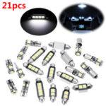 New                21pcs White Interior LED Car Lights Bulb Kit for BMW 5 Series M5 E60 E61 (04-10)