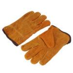New              Garden Gardening Welder Gloves Men Women Thorn Proof Leather Work Gloves Yellow