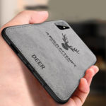 New              BAKEEY Deer Classic Canvas Cloth Shockproof Protective Case for Samsung Galaxy A51 2019