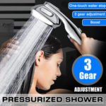 New              3 Mode High Pressure Handheld Water Saving Shower Head Spray Handheld Bathroom Shower Head