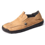New              Menico Men Genuine Leather Slip On Soft Casual Shoes