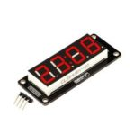 New              4 Digit LED Display Tube 7 Segments TM1637 50x19mm Red Clock Display Colon RobotDyn for Arduino – products that work with official Arduino boards
