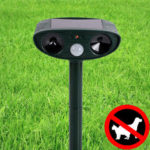 New              KCASA Outdoor Garden Solar Ultrasonic Repeller PIR Pest Animal Mouse Fox Cat Dog Repellent