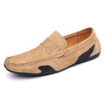 New              Menico Men Genuine Leather Slip On Soft Casual Flats