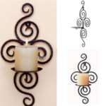 New              Iron Scroll Candle Holder Candlestick Wall Hanging Sconce Wedding Home Decorations