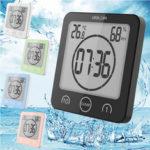New              Digital Waterproof Shower Clock Temperature Sensor Wall Countdown Bathroom Timer