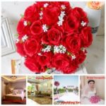 "New              18 Head / Bouquet 15"" Artificial Silk Roses Flowers Bridal Home Wedding Decor Supplies"