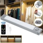 New              60 LED USB Rechargeable Motion Sensor Closet Light Wireless Under Cabinet Lamp