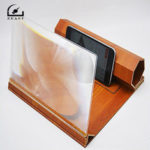 New              Stereoscopic Amplifying 12 Inch Desktop Wood Bracket Mobile Phone Video Screen Magnifier Amplifier Phone Holder Mount