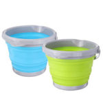 New              5/10L Folding Silicone Collapsible Water Bucket Camping Outdoor Fishing Pot