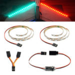 New              DIY RC LED Strips Kit Green Red Flash Night Light with Remote Controller Module 5V for RC Airplane Fixed Wing
