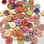 New              100Pcs Retro Wooden Sewing Buttons DIY Craft Bag Hat Clothes Decoration Sewing Button