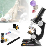 New              Children's Kids Junior Microscope Science Lab Set with Light Educational Toy