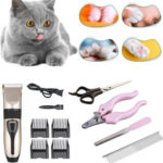 New              11/7/4PCS 5W 800 RPM Rechargeable Washable Cat Dog Hair Manual Clipper Steel Comb Nail Clipper Animal Trimmer Electrical Pet Clipper