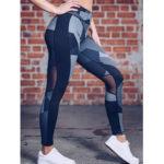 New              Women Casual Patchwork Printing Yoga Sport Running Leggings