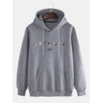 New              Mens Loose Fashion  Warm Cashmere Sweatshirt