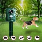 New              Ultrasonic Solar Power Pest Animal Repeller Repellent For Garden Fox Deterrent