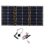 New              110W 18V Foldable Sunpower Solar Panel Charger Solar Power Bank USB Camouflage Backpack for Camping Hiking
