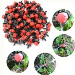New              100Pcs Adjustable Micro Drip Irrigation Watering Anti-clogging Emitter Dripper Watering System Automatic Hose Kits Connector