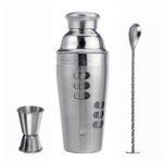 New              Stainless Steel 700ML Cocktail Shaker Set Maker Mixer Martini Bar Bartender Kit