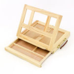 New              Table Easel Drawer Pine Wood Artist Easel Painting Stand Craft Art Sketching Box Board Desktop Durable Drawing Board