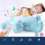 New              Baby Infant Toys Elephant Comfort Toy Hypnosis Projection Lamp Animal Music Light Stuffed Plush Toy
